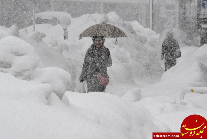 www.dustaan.com بارش سنگین برف در ژاپن جان 5 نفر را گرفت +عکس
