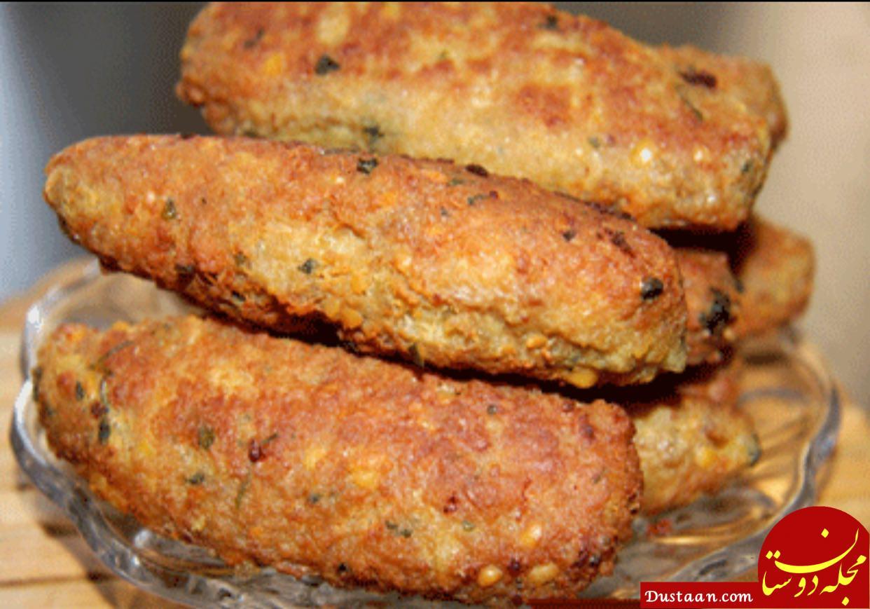 www.dustaan.com طرز تهیه کتلت لپه غذایی خوشمره و متفاوت