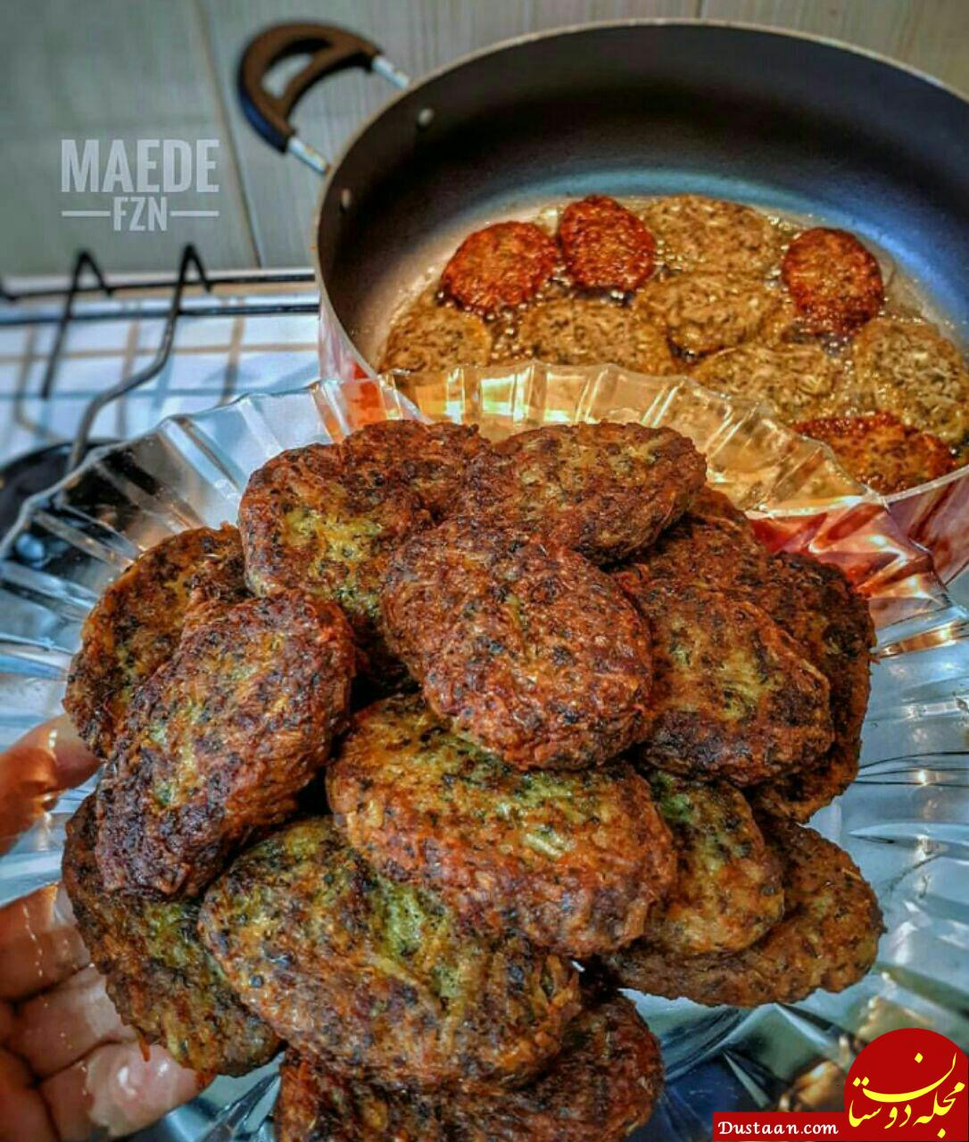 www.dustaan.com طرز تهیه کتلت گوشت به سبکی خوشمزه