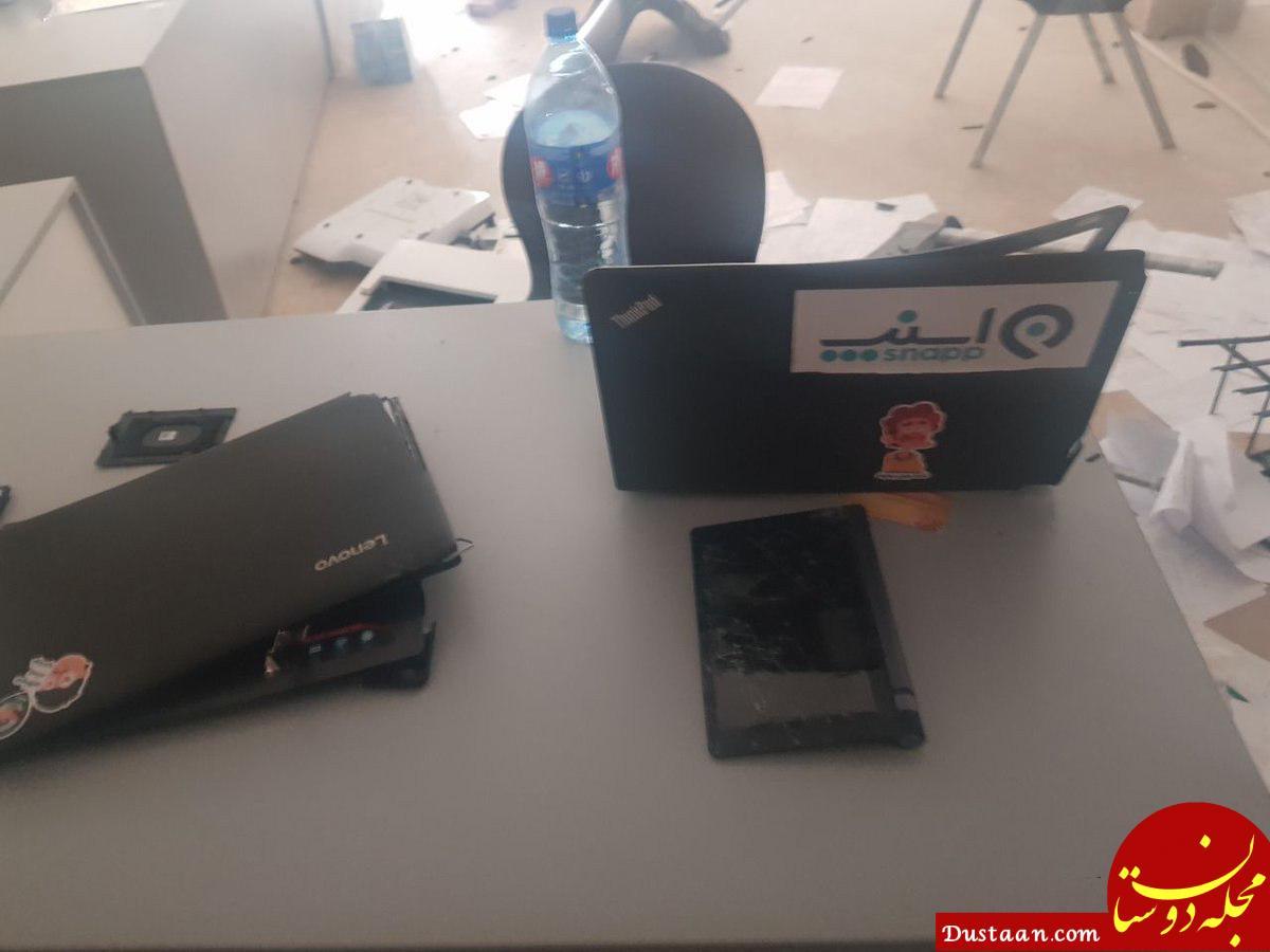 www.dustaan.com حمله به دفتر اسنپ در کرمان +عکس