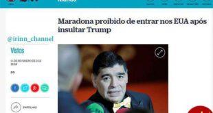 آمریکا به مارادونا روادید مشروط داد