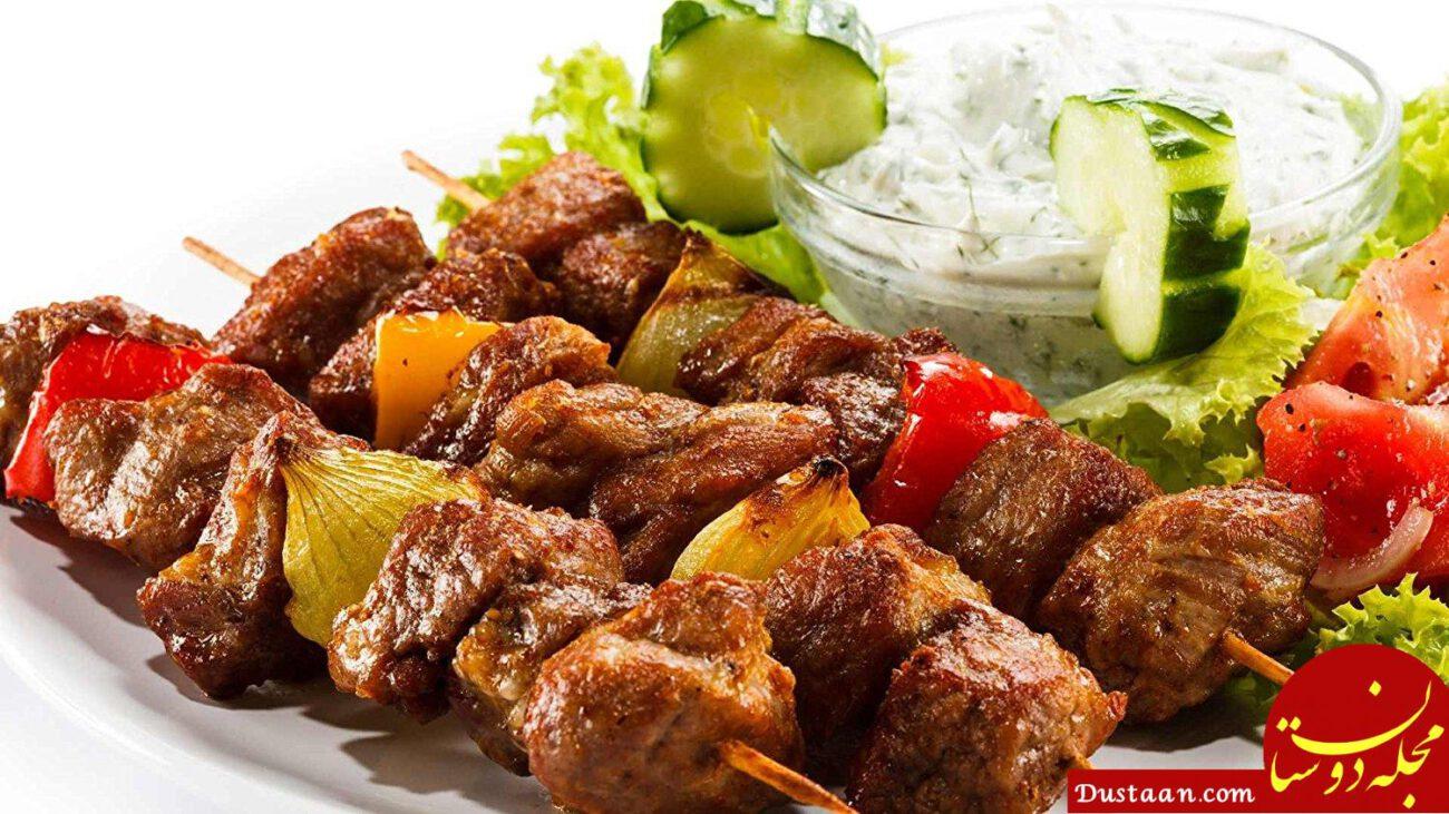 www.dustaan.com طرز تهیه کباب چنجه به سبکی خوشمزه و ترد