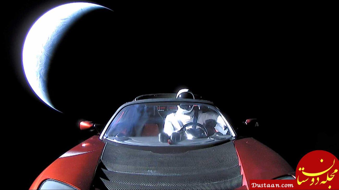 www.dustaan.com خودروی تسلا در فضا رویت شد! +عکس
