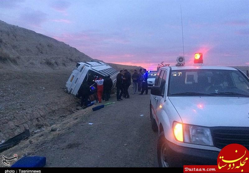 www.dustaan.com 7 کشته و 24 زخمی در واژگونی اتوبوس در محور دیهوک فردوس +فیلم