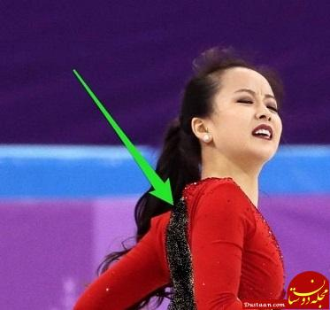 www.dustaan.com پاره شدن لباس اسکی باز زن کره ای وسط مسابقه! + عکس