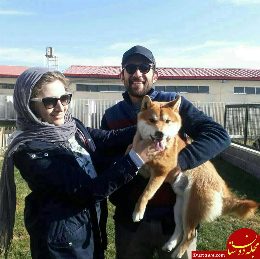 www.dustaan.com حیوان خانگی بابک حمیدیان و همسرش! +عکس