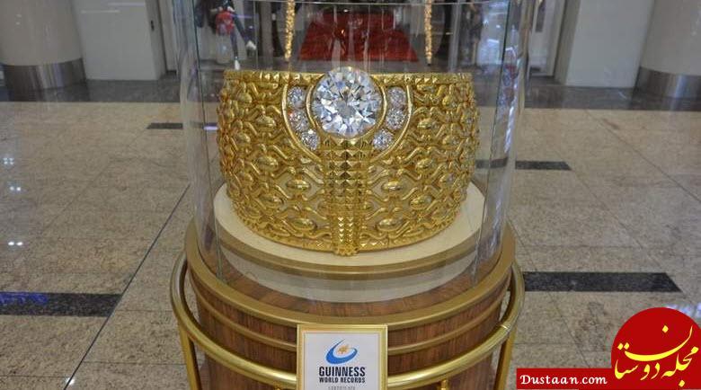 www.dustaan.com رونمایی از بزرگ ترین انگشتر طلای جهان +عکس