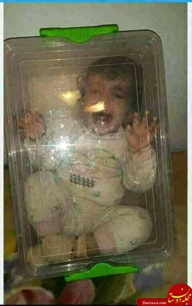 www.dustaan.com اقدام احمقانه مادر سنگدل برای قطع گریه های فرزندش! +عکس