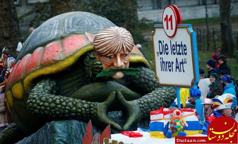 www.dustaan.com اعتراض به رهبران سیاسی جهان در کارناوال خیابانی آلمان +عکس