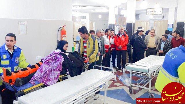 www.dustaan.com 15 زخمی و کشته در واژگونی اتوبوس در محور یاسوج اصفهان +تصاویر