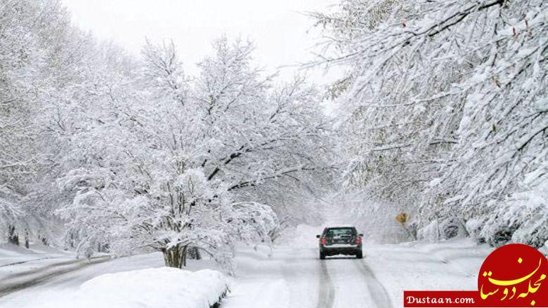 www.dustaan.com برف و باران شدید در برخی استان ها تا سه شنبه 1 اسفند