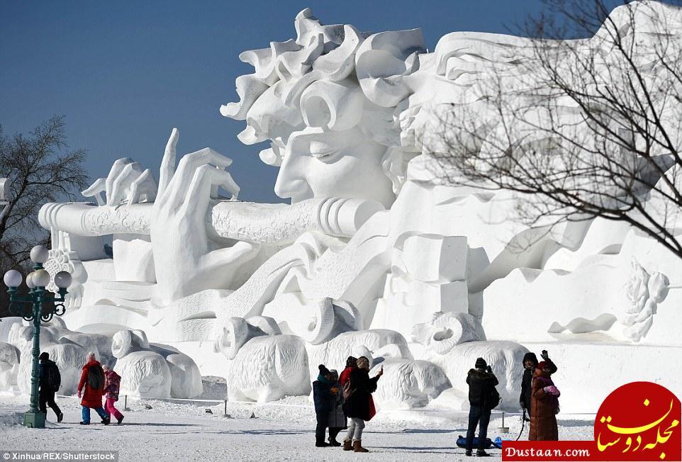 www.dustaan.com عکس های دیدنی از جشنواره سازه های بزرگ یخی در چین