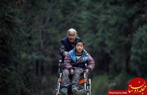 فداکاری مادربزرگ ۷۶ ساله برای نوه معلولش