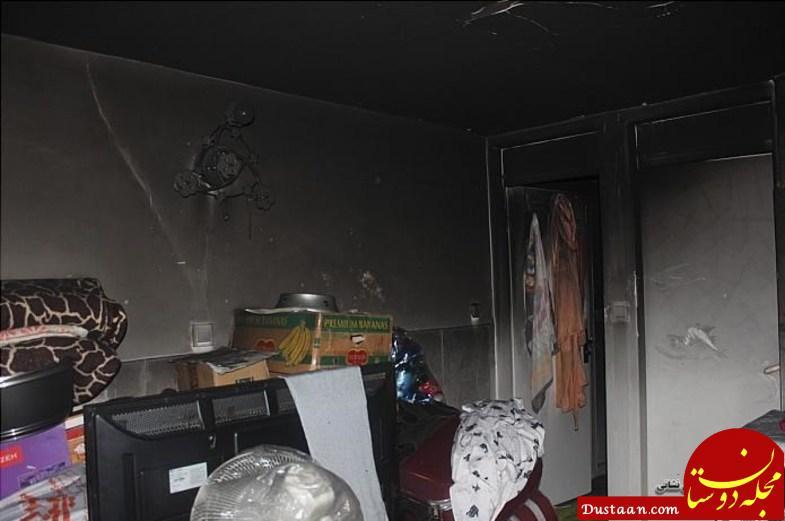 www.dustaan.com نجات ۷ نفری که گریزی از آتش سوزی گسترده نداشتند! +تصاویر