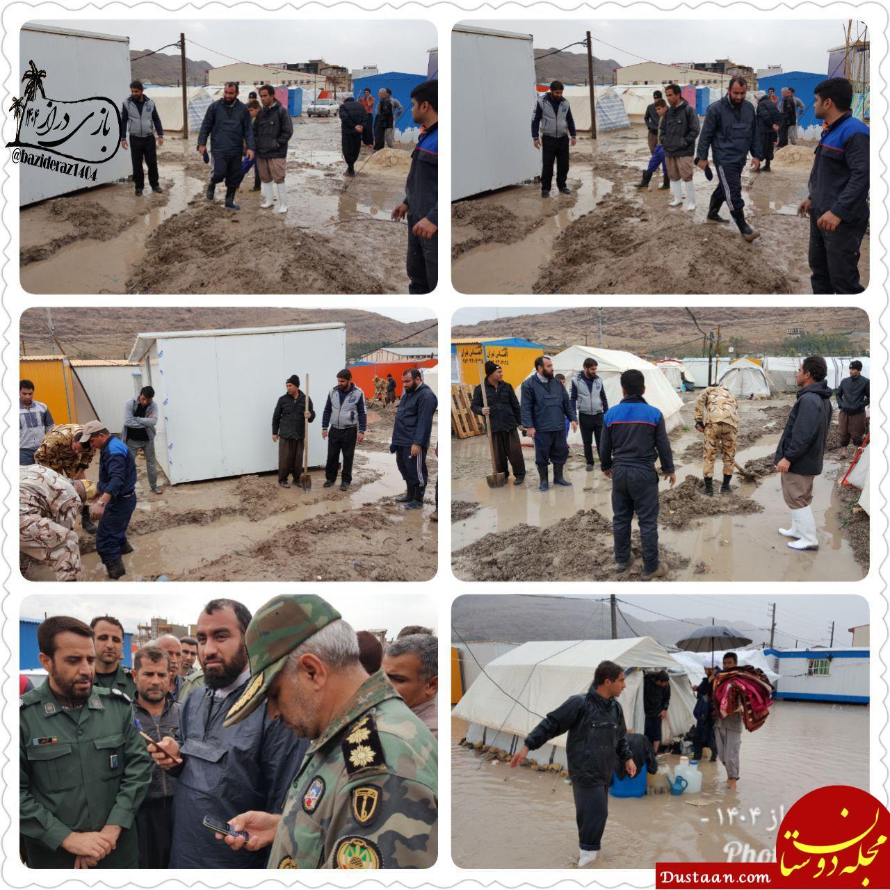 www.dustaan.com امام جمعه سرپل ذهاب با لباس مبدل درحال امداد! +تصاویر
