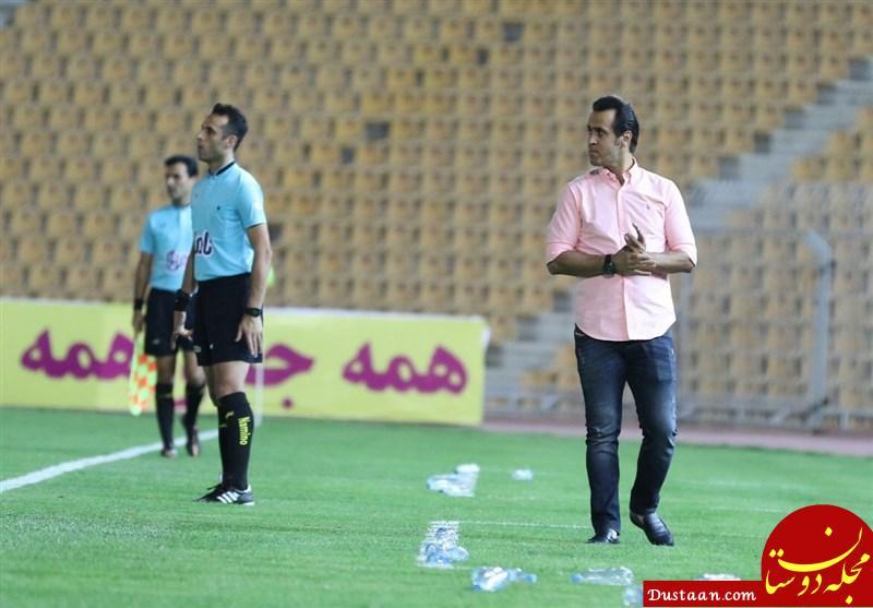 www.dustaan.com توصیه جالب جادوگر به بازیکنان سپیدرود در بین دو نیمه!