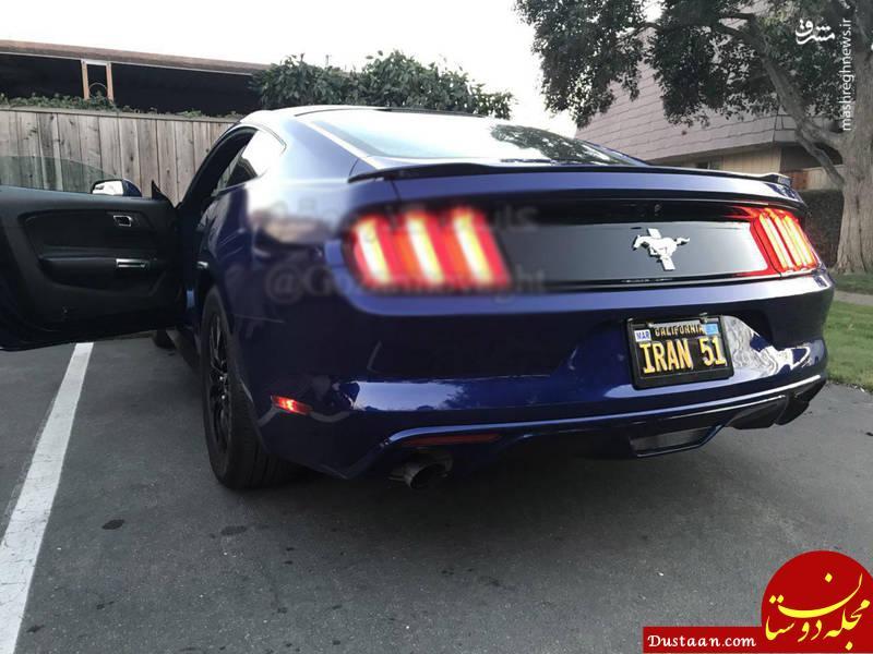 www.dustaan.com خودروی آمریکایی با پلاک ایرانی در کالیفرنیا! +عکس