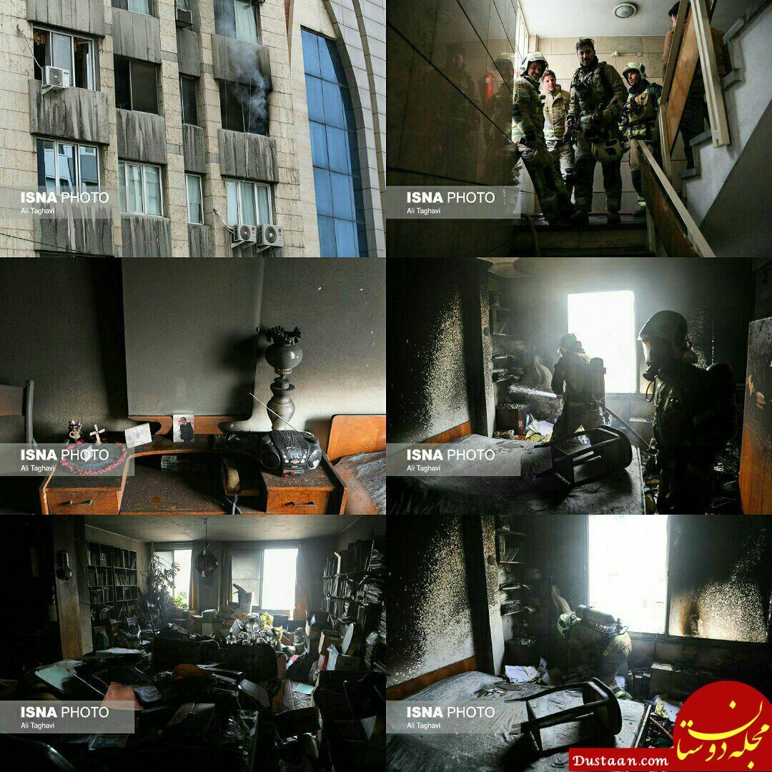www.dustaan.com آتش سوزی در خیابان ابوریحان +تصاویر