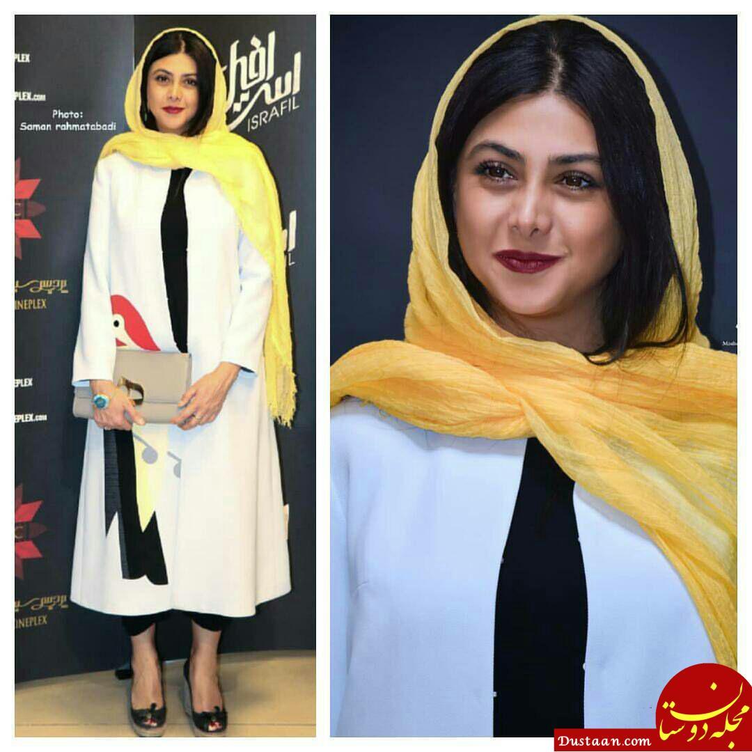 www.dustaan.com آزاده صمدی در مراسم اکران مردمی فیلم اسرافیل +تصاویر