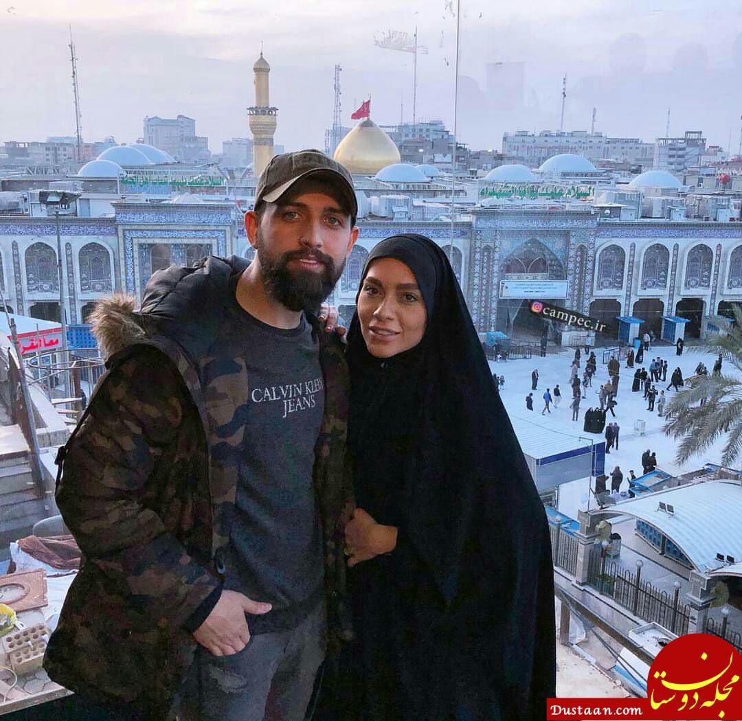 www.dustaan.com محسن افشانی و همسرش در کربلا +عکس
