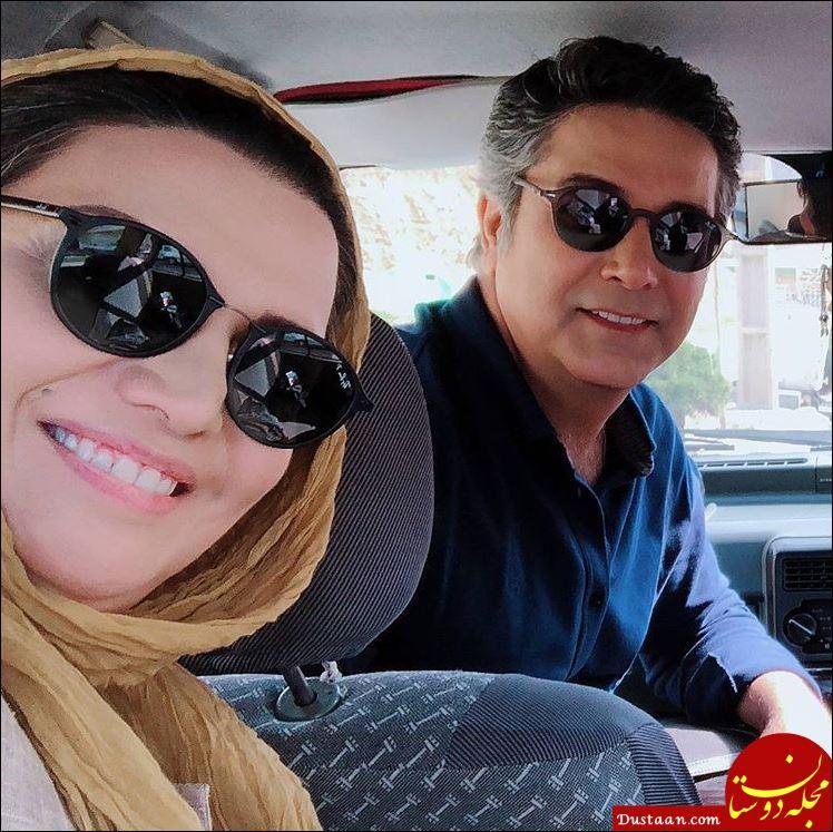 www.dustaan.com حمیدرضا پگاه و الهام پاوه نژاد در پشت صحنه سریال «هست و نیست»