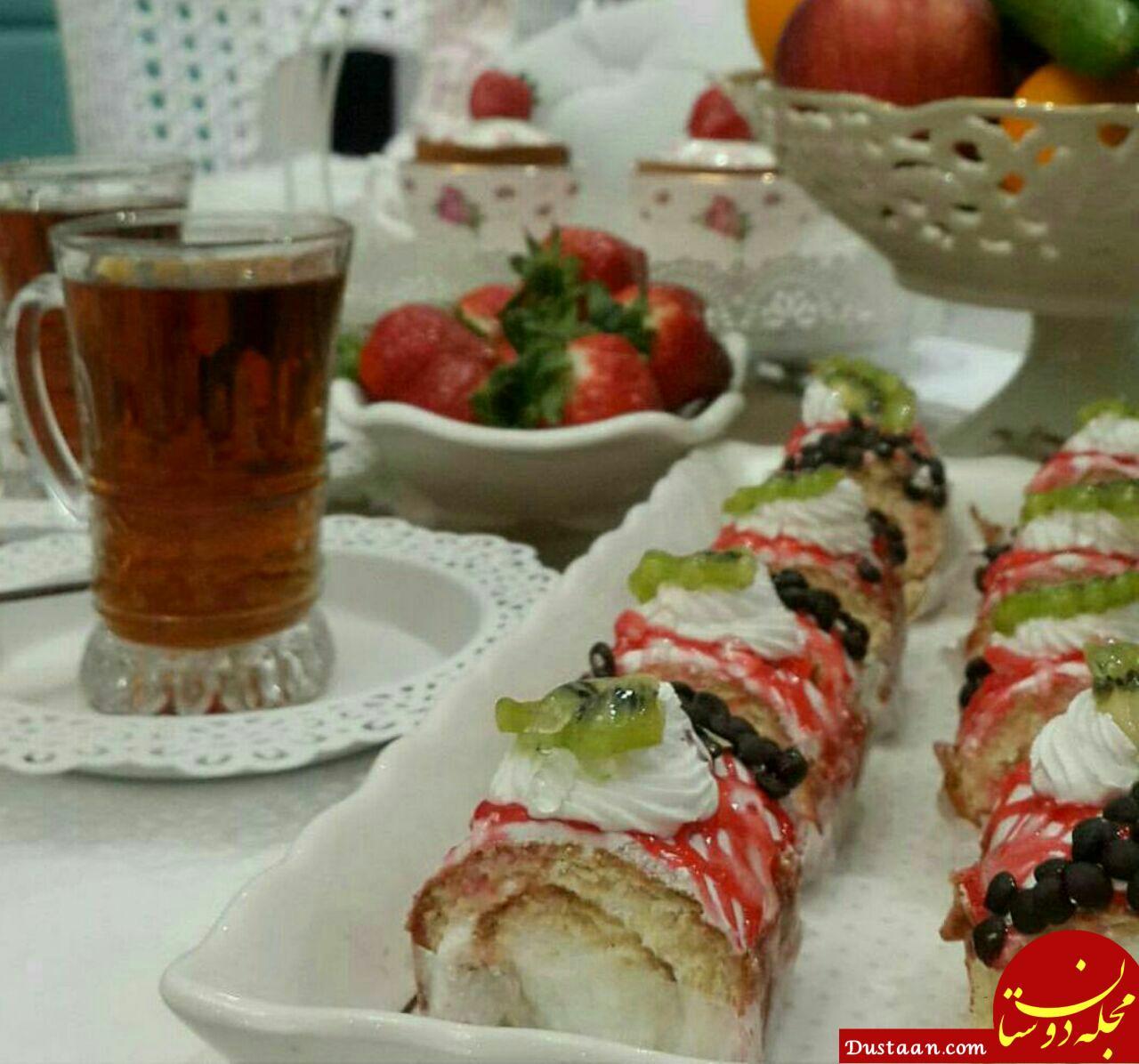 www.dustaan.com طرز تهیه رولتی خامه ای به سبکی خوشمزه برای ایام عید!