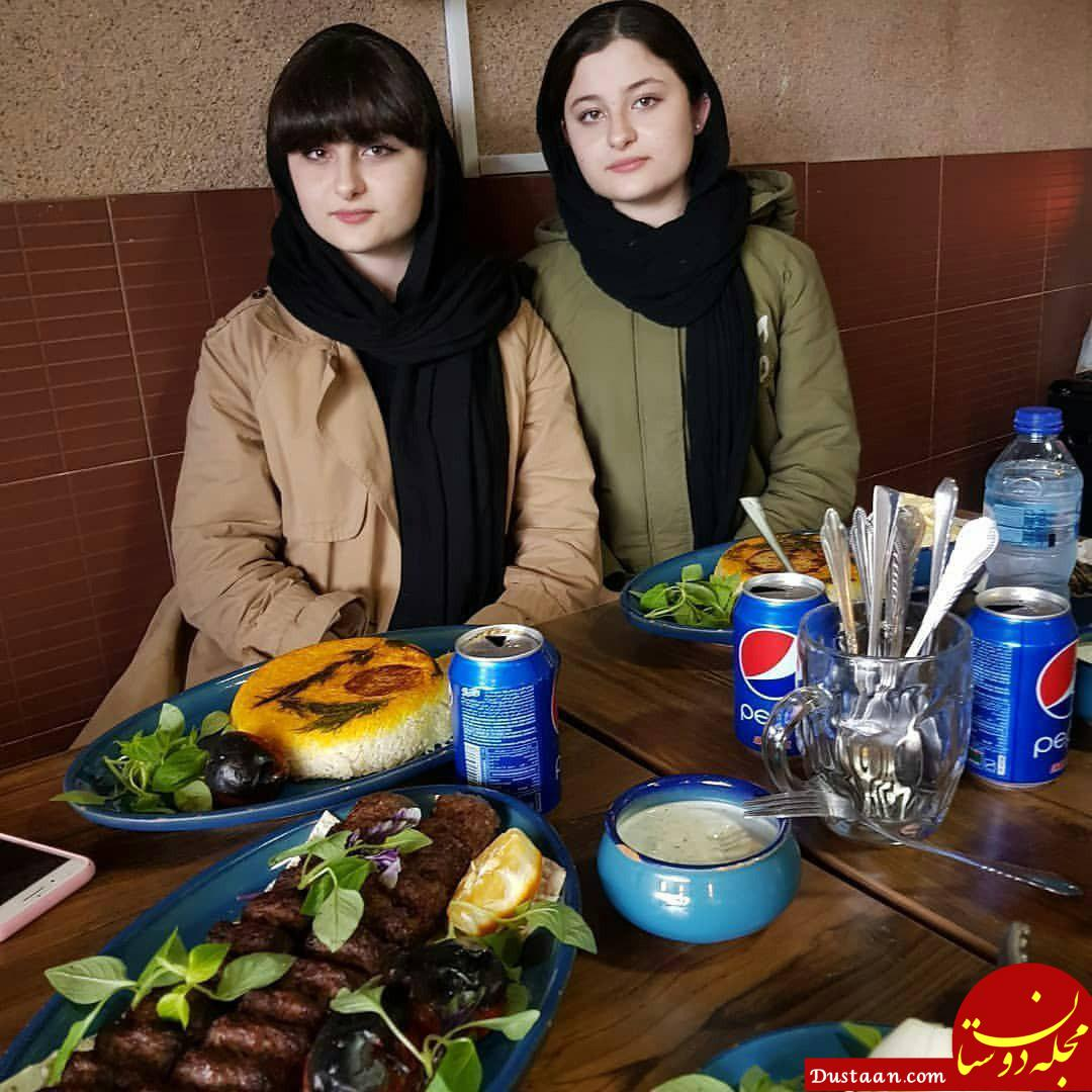 www.dustaan.com بیوگرافی و عکس های جدید سارا و نیکا فرقانی بازیگران سریال پایتخت