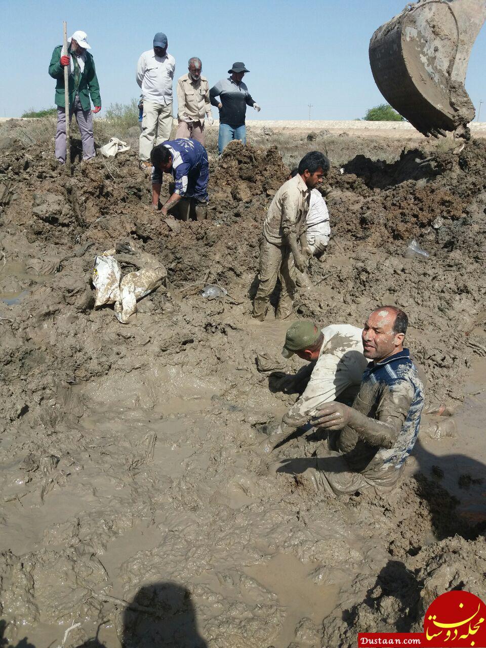 www.dustaan.com تصویری از سختی های عملیات تفحص پیکرهای مطهرشهدا