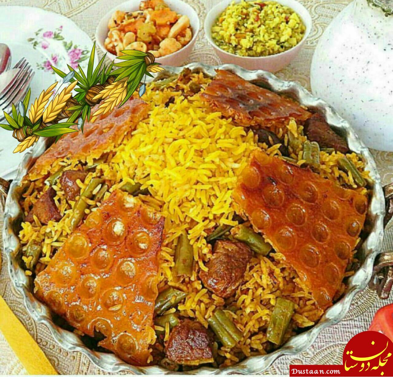 www.dustaan.com طرز تهیه لوبیا پلو به سبکی خوشمزه و متفاوت
