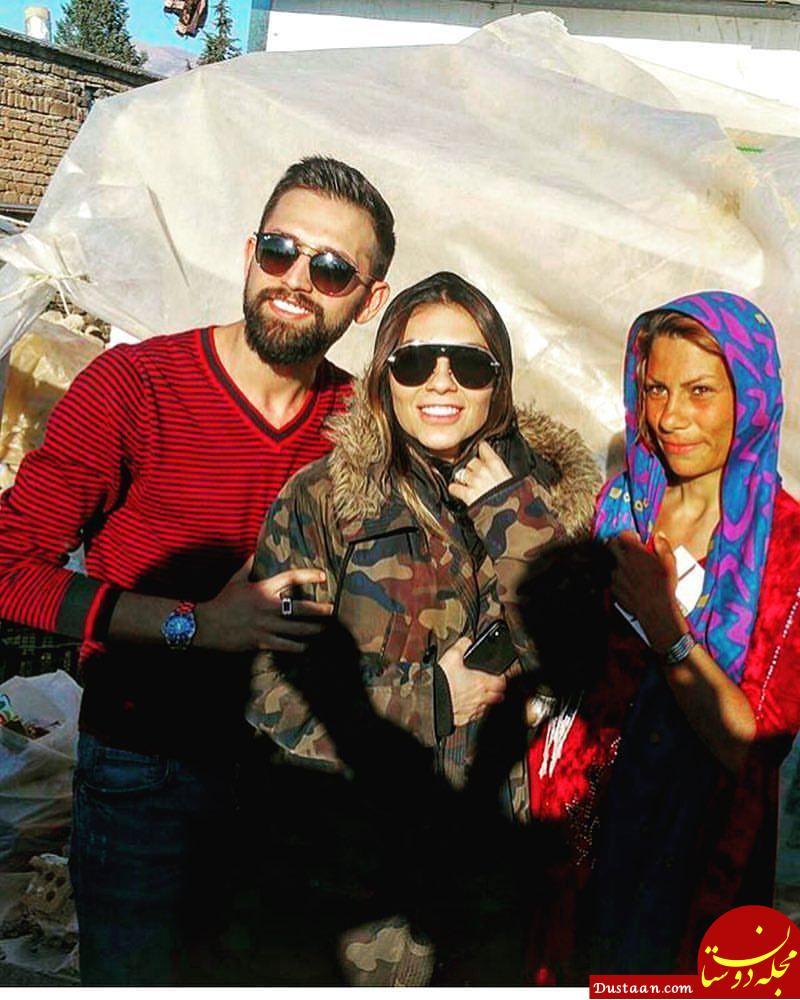 محسن افشانی و همسرش در سر پل ذهاب +عکس