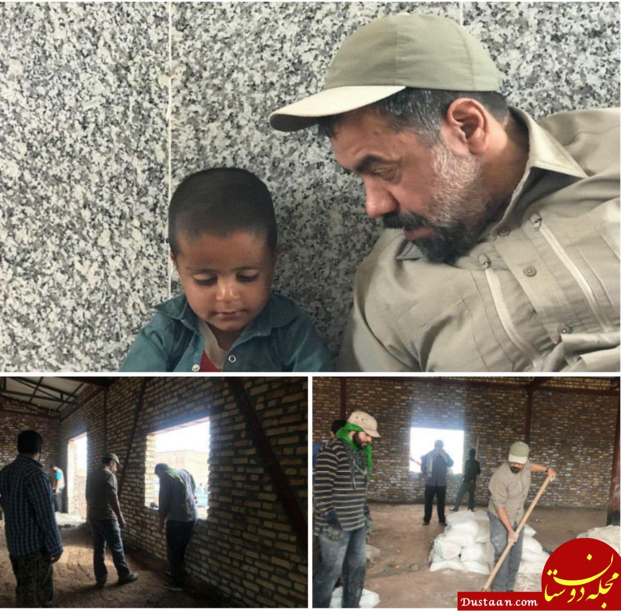 www.dustaan.com حضور حاج محمود کریمی در اردو جهادی +عکس