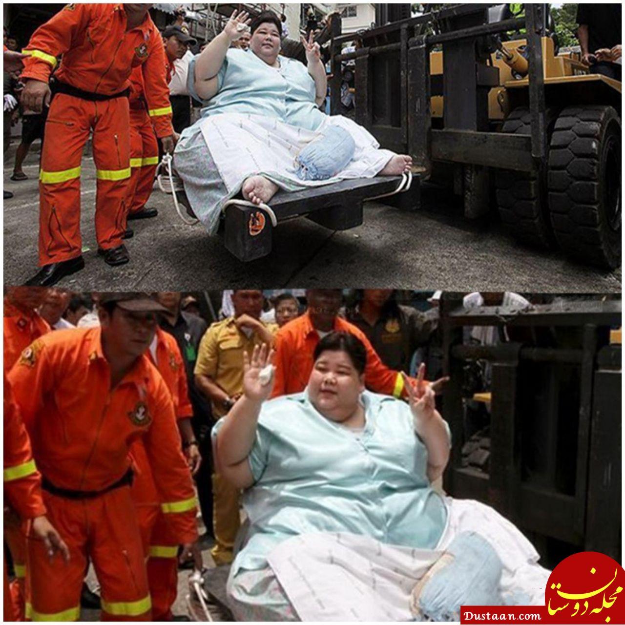 www.dustaan.com زنی که یک دولت خرج شکمش را می دهد! +عکس