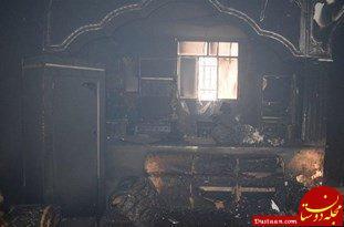 www.dustaan.com آتش سوزی در اداره ثبت احوال لوداب +عکس