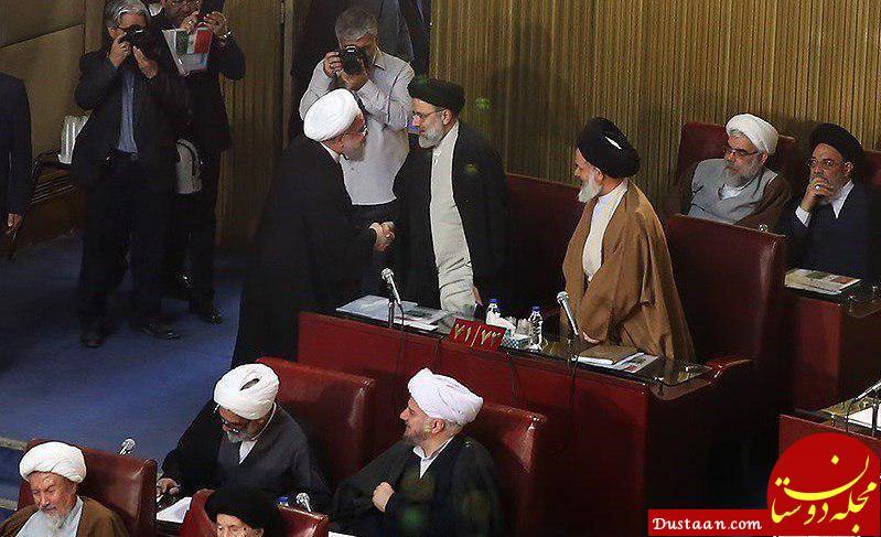 www.dustaan.com دیدار گرم روحانی با رئیسی در جلسه خبرگان +عکس