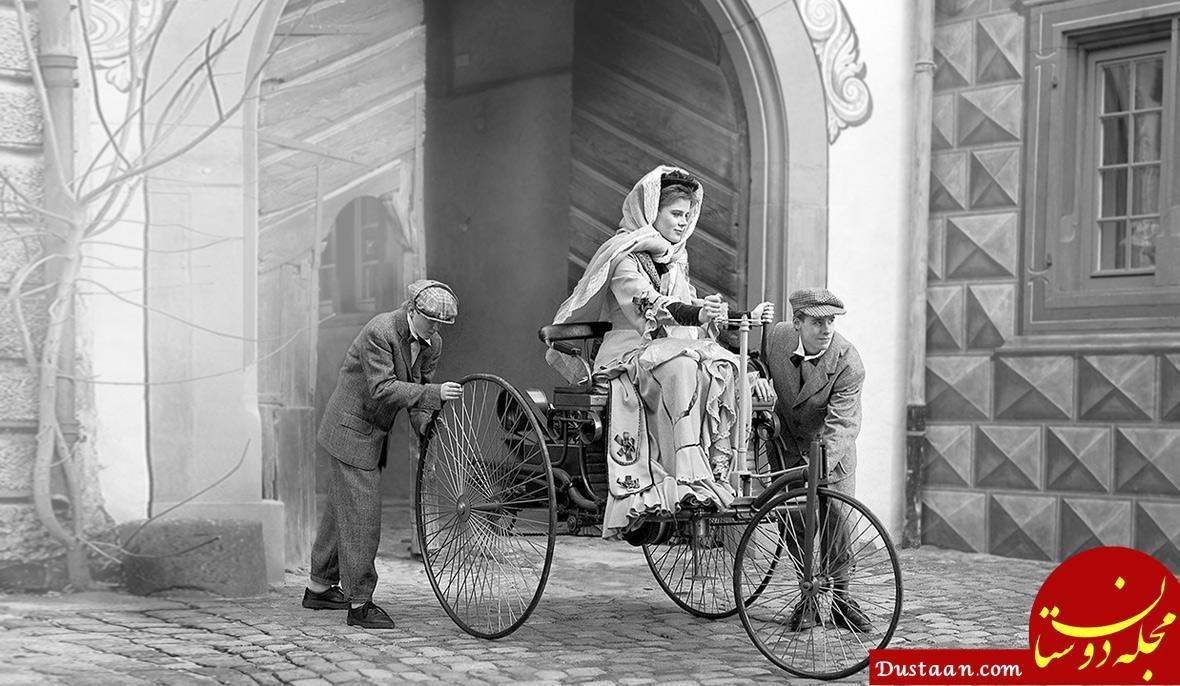www.dustaan.com تصویری از اولین زن بنزسوار!