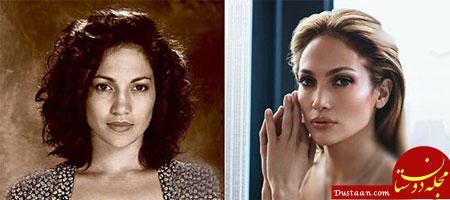 www.dustaan.com تصاویری جالب از تغییر چهره زنان هالیوودی در گذر زمان!