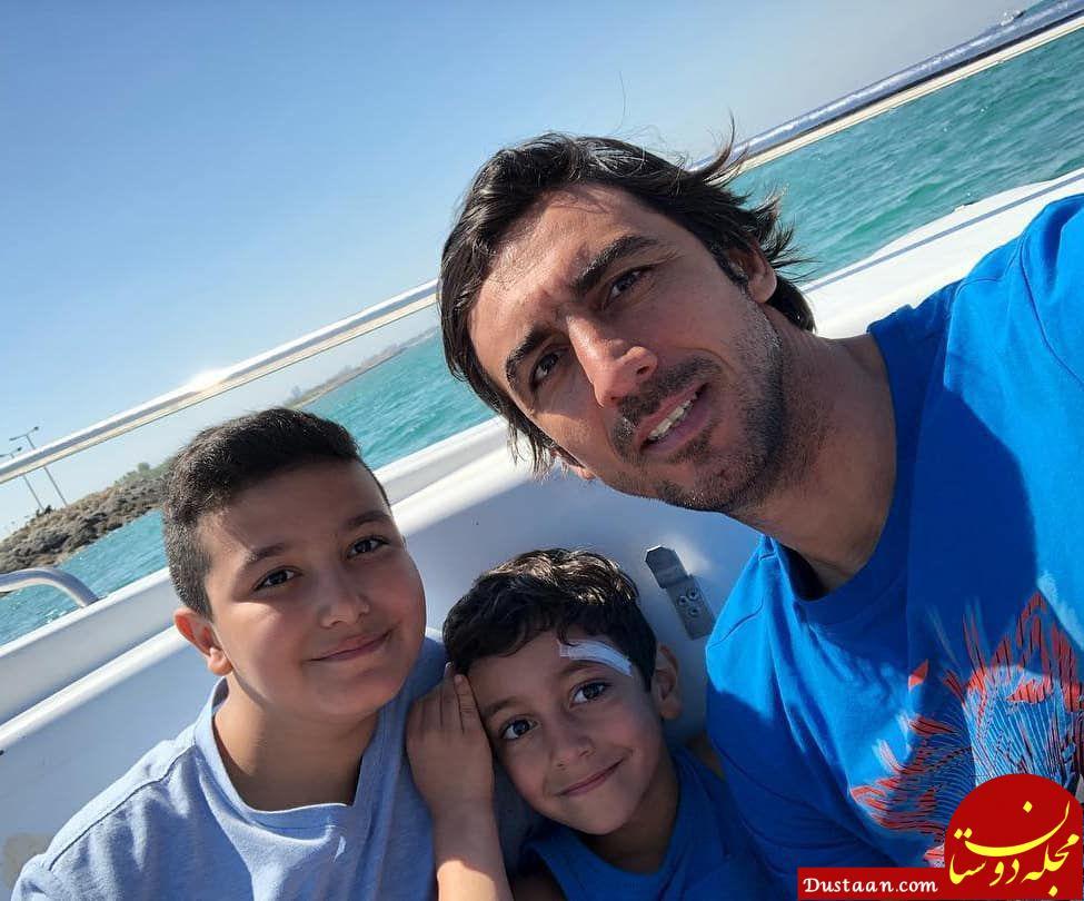 کاپیتان استقلال تهران و فرزندانش در تعطیلات نوروزی! +عکس