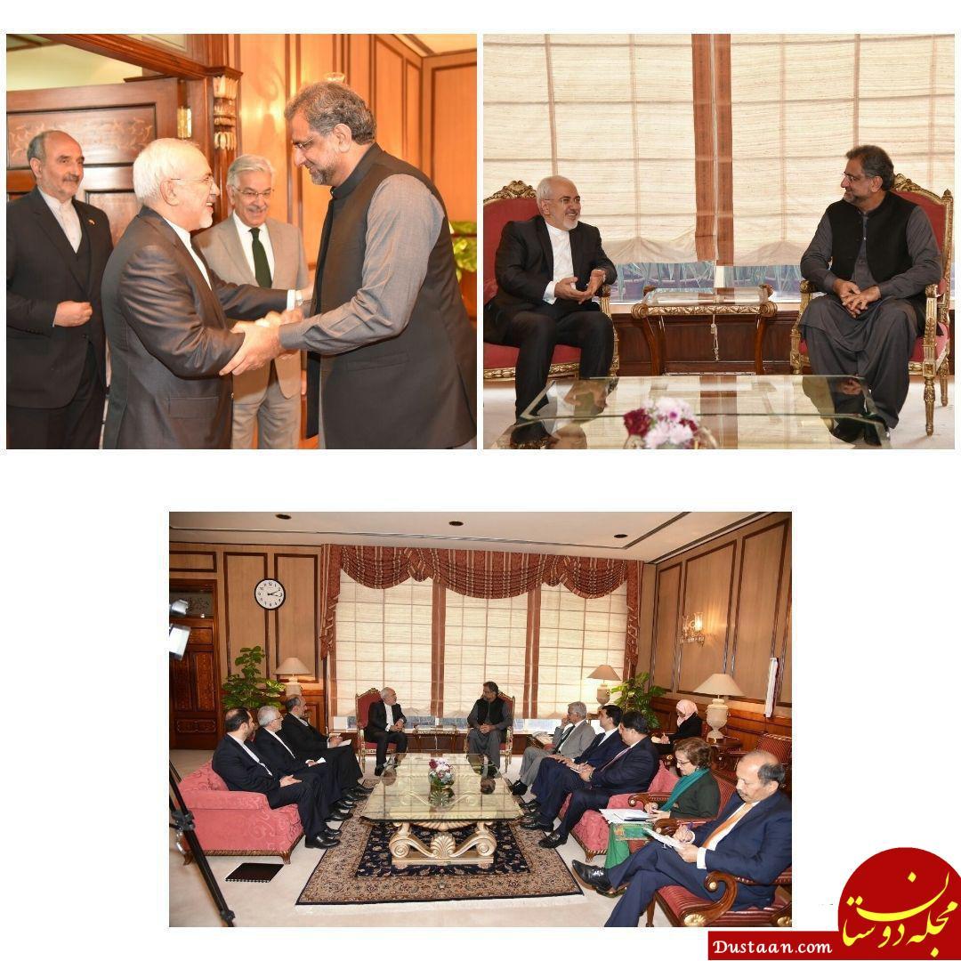 www.dustaan.com ملاقات ظریف بانخست وزیر پاکستان +تصاویر