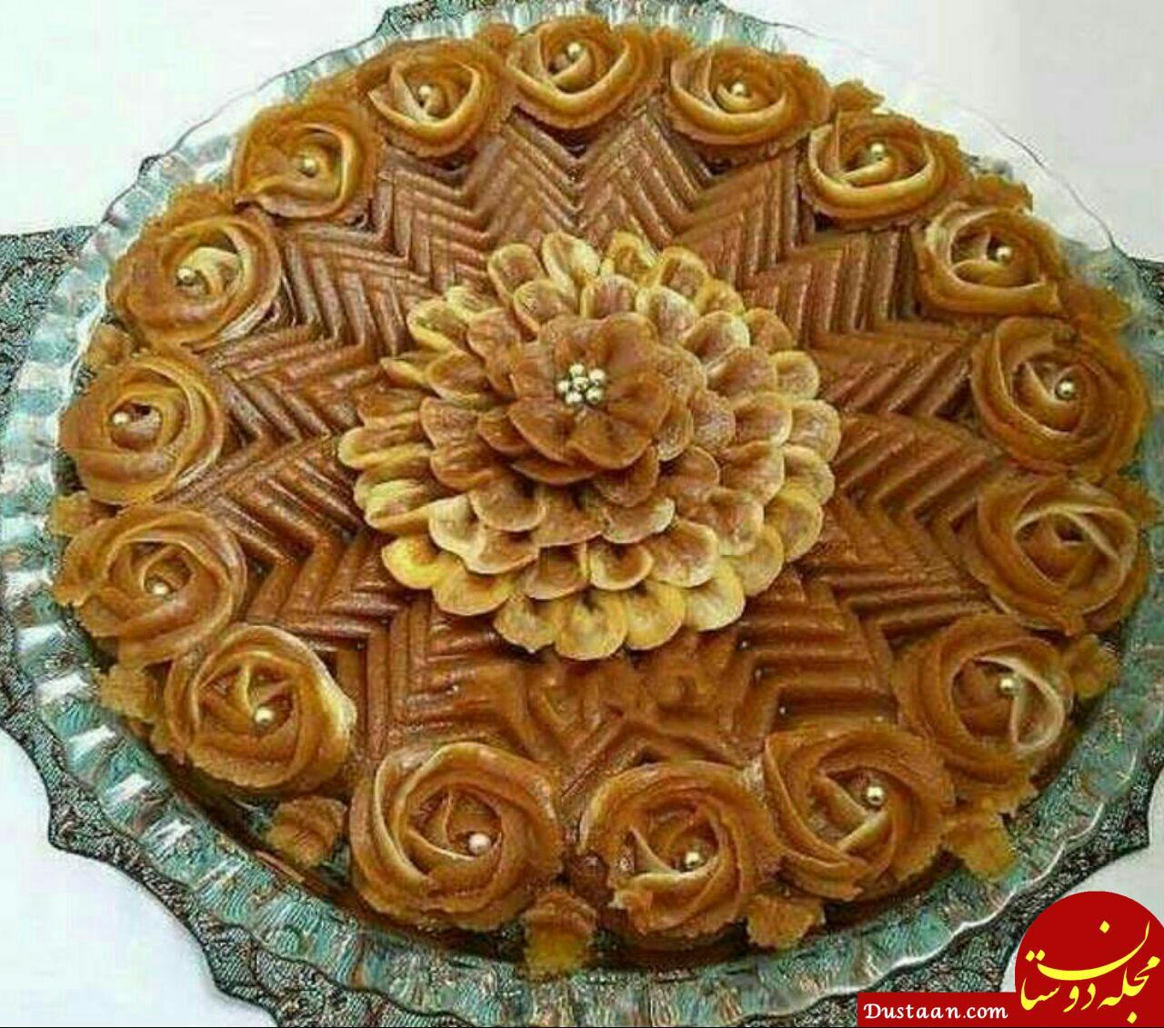 www.dustaan.com طرز تهیه حلوا دسر ایرانی به سبکی خوشمزه