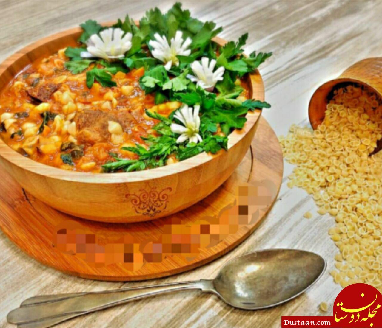 www.dustaan.com طرز تهیه سوپ ماهیچه پیازچه به سبکی خوشمزه