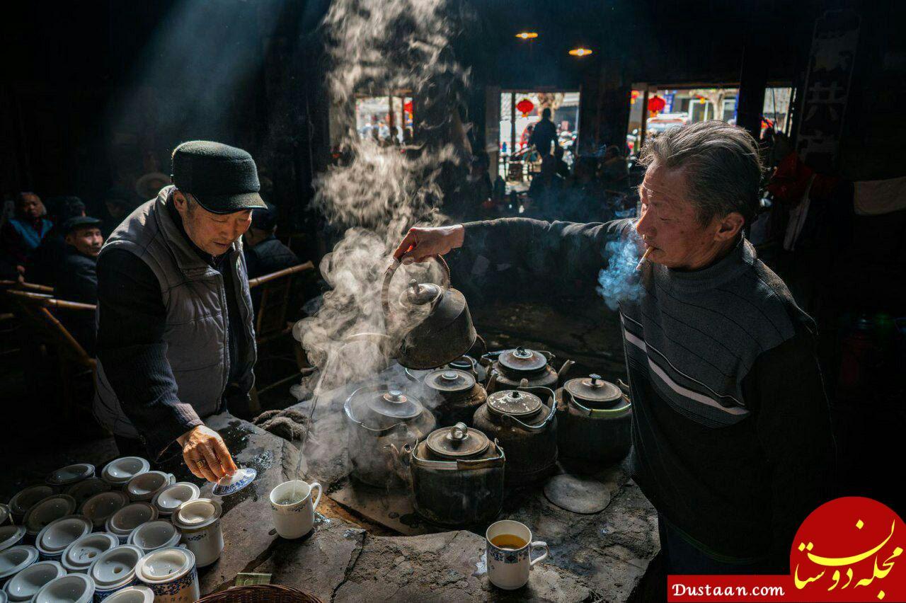 www.dustaan.com چای خانه قدیمی چینی در عکس روز نشنال جئوگرافیک