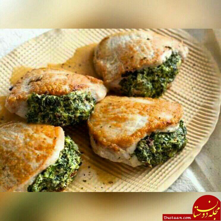 www.dustaan.com طرز تهیه فیله مرغ با پنیر به سبکی خوشمزه