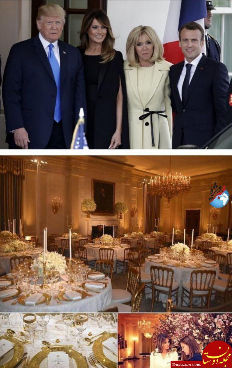 www.dustaan.com تدارک مفصل ترامپ برای ماکرون! +تصاویر