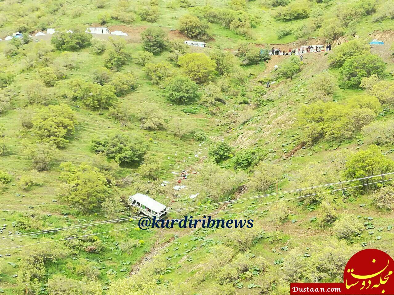 www.dustaan.com 2 کشته و 11 زخمی در واژگونی مینی بوس روستای اسلام دشت +عکس