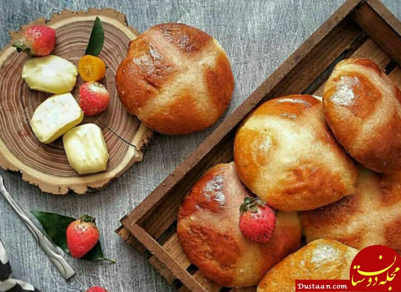 www.dustaan.com طرز تهیه نان کره ای به سبکی خوشمزه