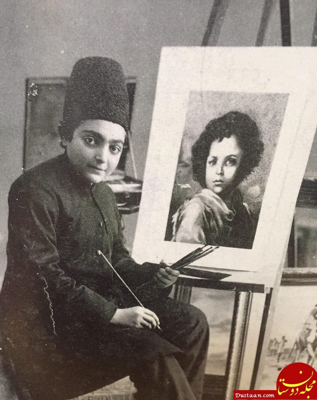 www.dustaan.com مهارت نوه ناصرالدین شاه در نقاشی +عکس