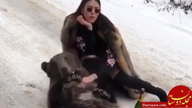 روش خطرناک دختر پولدار روسی برای خودنمایی! +عکس