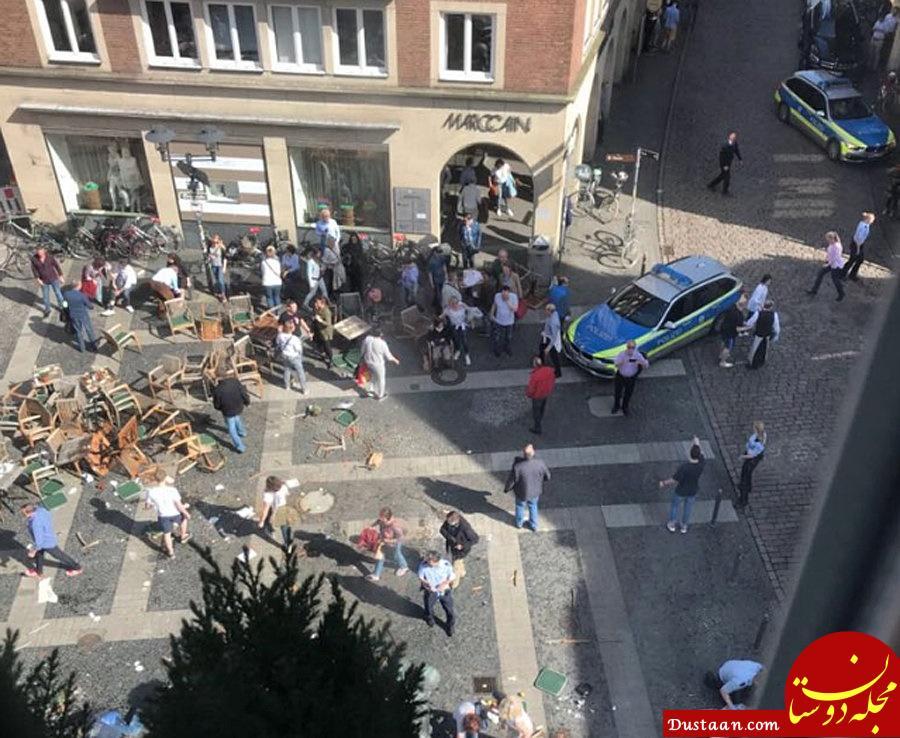 حمله وحشیانه خودروی ون به مشتریان رستورانی در آلمان +تصاویر