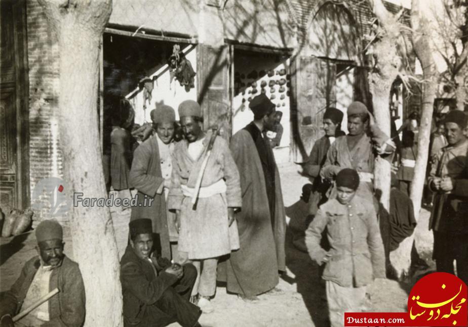 www.dustaan.com تصویری دیدنی از مردم کوچه و بازار تهران در ۹۳ سال قبل