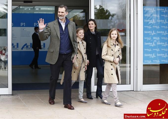 عیادت ملکه اسپانیا و مادرشوهرش از پادشاه پس از مشاجره جنجالی! +تصاویر
